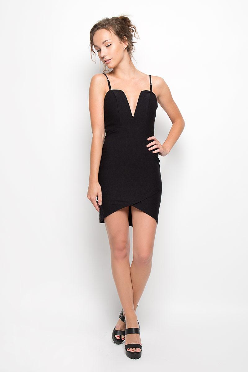 Платье Glamorous, цвет: черный. CK1726 Black. Размер S (44)CK1726 BlackЭлегантное платье Glamorous, выполненное из плотного трикотажа, преподносит все достоинства женской фигуры в наиболее выгодном свете. Модель с регулируемыми по длине бретелями на спинке застегивается на скрытую застежку-молнию. Передняя часть лифа дополнена плотной вставкой, что позволяет носить платье без бюстгальтера. Низ платья спереди дополнен имитацией запаха. Благодаря свойствам используемого материала изделие практически не сминается.В таком наряде вы безусловно привлечете восхищенные взгляды окружающих. Это яркое платье станет отличным дополнением к вашему гардеробу!