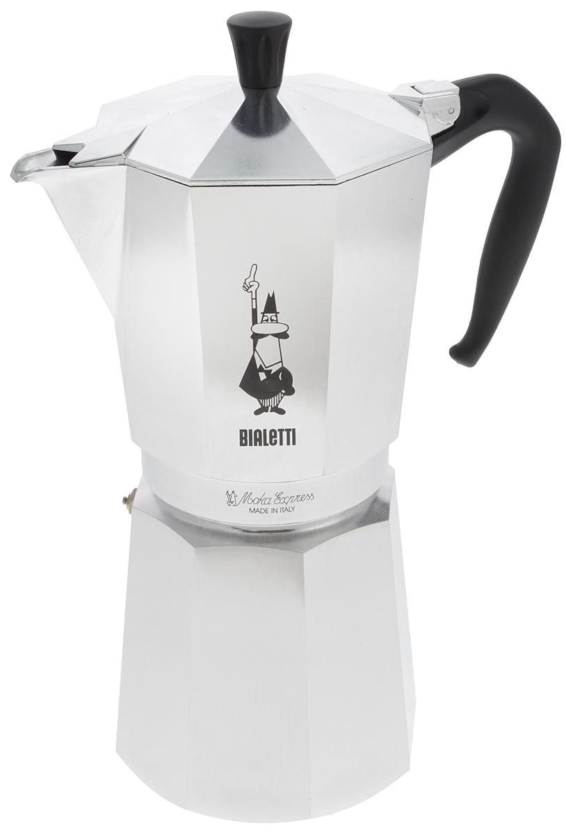 Кофеварка гейзерная Bialetti Moka Express, на 18 чашек1167Стильный дизайн гейзерной кофеварки Bialetti Moka Express станет ярким элементом интерьера вашего дома! Кофеварка выполнена из алюминия, а ручка - из пластика.Объема кофе хватает на 18 чашек. Принцип работы такой гейзерной кофеварки - кофе заваривается путем многократного прохождения горячей воды или пара через слой молотого кофе. Удобство кофеварки в том, что вся кофейная гуща остается во внутренней емкости. Гейзерные кофеварки пользуются большой популярностью благодаря изысканному аромату. Кофе получается крепкий и насыщенный. Теперь и дома вы сможете насладиться великолепным эспрессо.Высота кофеварки (с учетом крышки): 31 см.Диаметр основания: 12 см.
