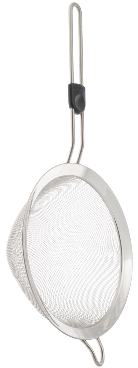Сито Leifheit Pro Line, с ручкой, диаметр 20 см21436Сито Leifheit Pro Line, выполненное из высококачественной нержавеющей стали, станет незаменимым аксессуаром на вашей кухне. Сито имеет удобную ручку и снабжено петлей для подвешивания. Такое сито станет достойным дополнением к кухонному инвентарю.Можно мыть в посудомоечной машине.Диаметр сита: 20 см.Длина ручки: 18,5 см.