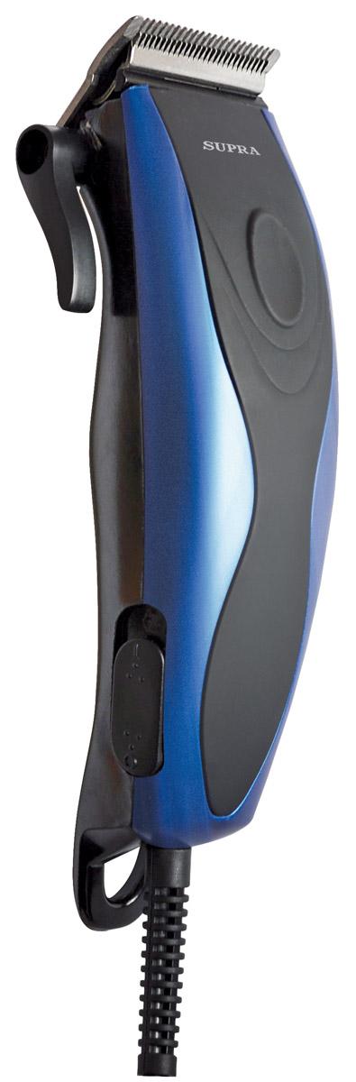 Supra HCS-203 машинка для стрижкиHCS-203Машинка для стрижки волос Supra HCS-203. Плавная регулировка длины стрижки осуществляется при помощи четырех насадок 3-12 мм, идущих в комплекте с устройством. Корпус выполнен из материала, который не позволяет машинке выскальзывать из рук. Современный и эргономичный дизайн.Красивую и модную прическу теперь можно сделать не только в парикмахерской, но и дома.
