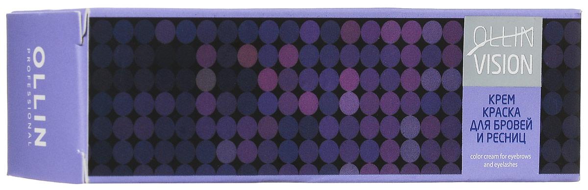 OllinКрем-краска для бровей и ресниц (черный) 20 мл + салфетки под ресницы Vision Color Cream For Eyebrows And Eyelashes (Black) 15 пар