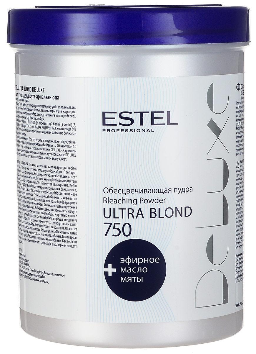 Estel De Luxe Ultra Blond De Luxe - Пудра обесцвечивающая750 гDL/P750Микрогранулированная обесцвечивающая пудра Ультра Блонд Де Люкс от Эстель применяется для осветления волос (до 7 тонов), декапирования, мелирования. Средство не образует пыли и имеет приятный запах. Бисаболол, входящий в состав пудры, оказывает противовоспалительное и антисептическое воздействие на кожу головы. Применение: 30 г пудры смешать с 60 г оксигента и 5 мл ампулой ХЭК в неметаллической посуде. Нанести на волосы на 20-50 минут в зависимости от желаемой степени осветления. Тщательно промыть водой и вымыть волосы шампунем, а затем обработать бальзамом-стабилизатором цвета. Объем: 750 мл