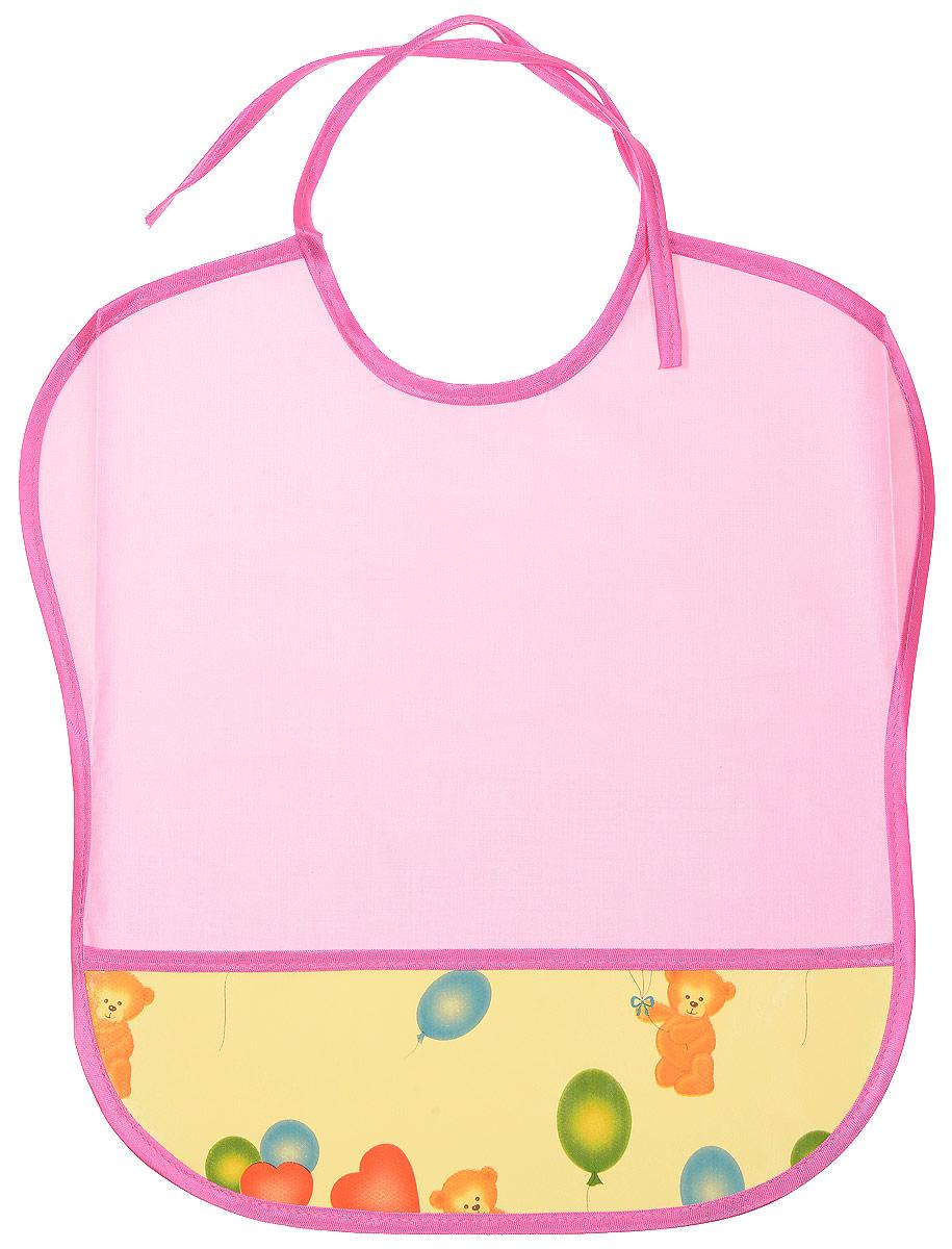 Колорит Нагрудник цвет розовый желтый 33 х 33 см