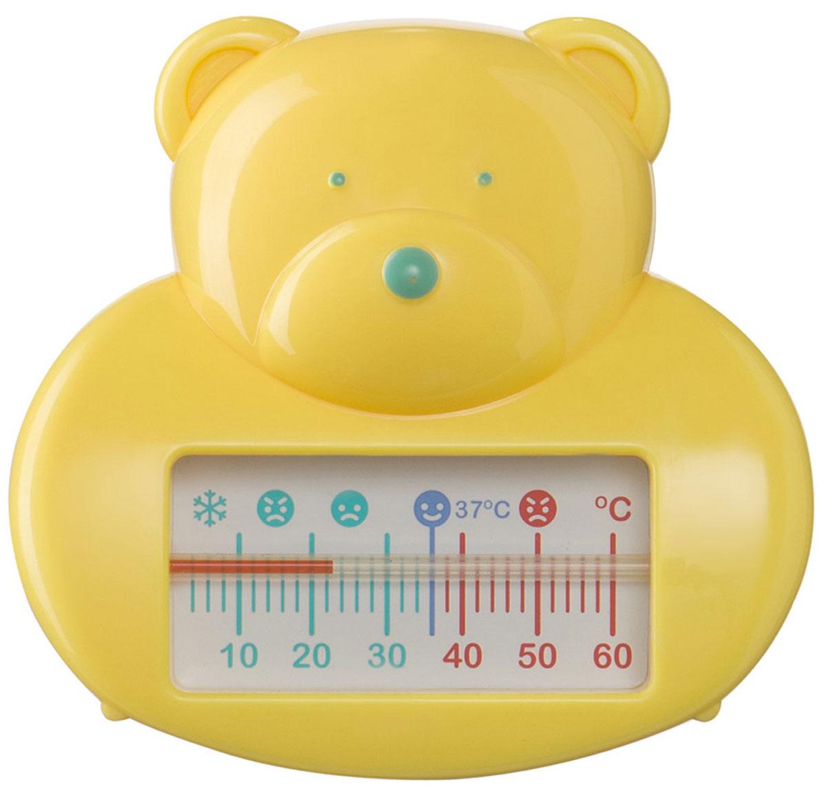 Забавная форма термометра в виде мишки порадует малыша во время купания, а удобная шкала поможет определить оптимальную температуру для купания.Термометр используется для измерения температуры воды.Никогда не оставляйте ребенка без присмотра во время купания. Перед купанием убедитесь, что температура воды не выше 37 °C. Перед тем, как опустить термометр в ванну, перемешайте воду. Затем опустите термометр в воду и держите как минимум одну минуту.Перед использованием необходимо вымыть.