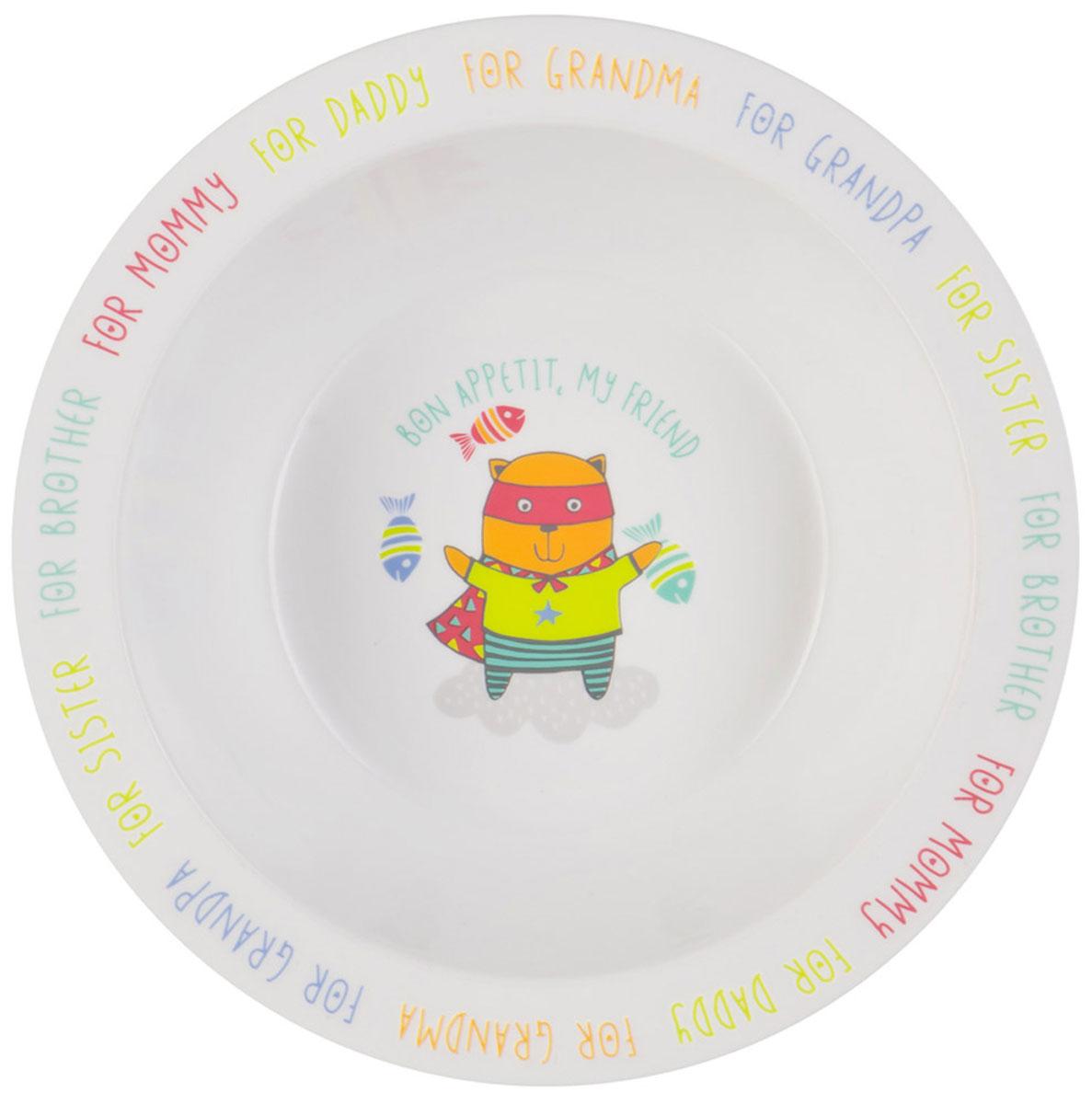 Happy Baby Тарелка детская Кот15016 NEW_кискаТарелка детская Happy Baby Кот изготовлена из безопасного материала.Тарелочка, оформленная веселой картинкой, понравится и малышу, и родителям! Ребенок будет с удовольствием учиться кушать самостоятельно. Тарелочка подходит для горячей и холодной пищи.Яркий дизайн тарелки превращает процесс кормления в увлекательную игру.Можно использовать в СВЧ-печи и мыть в посудомоечной машине.Подходит для детей от 6 месяцев.