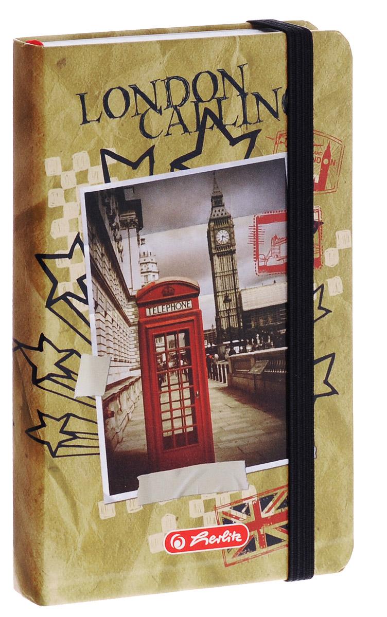 Herlitz Записная книжка London 96 листов в клетку11301868Записная книжка Herlitz London - незаменимый атрибут современного человека, необходимый для рабочих и повседневных записей в офисе и дома.Записная книжка содержит 96 листов формата А6 в клетку. Обложка, выполненная из плотного картона, оформлена изображением знаменитой лондонской башни. Прошитый внутренний блок гарантирует полное отсутствие потери листов.Записная книжка Herlitz London станет достойным аксессуаром среди ваших канцелярских принадлежностей. Она подойдет как для деловых людей, так и для любителей записывать свои мысли, рисовать скетчи, делать наброски.