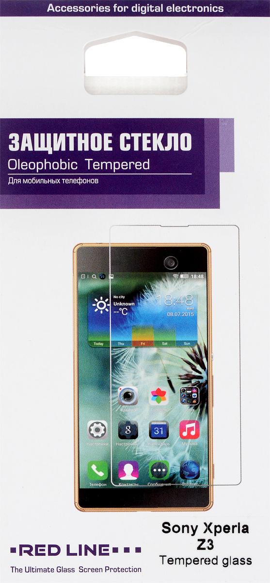 Red Line защитное стекло для Sony Xperia Z3УТ000005603Защитное стекло Red Line для Sony Xperia Z3 предназначено для защиты поверхности экрана от царапин, потертостей, отпечатков пальцев и прочих следов механического воздействия. Оно имеет окаймляющую загнутую мембрану, а также олеофобное покрытие. Изделие изготовлено из закаленного стекла высшей категории, с высокой чувствительностью и сцеплением с экраном.