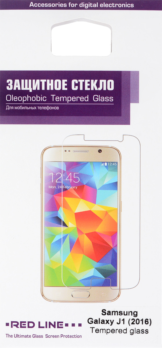 Red Line защитное стекло для Samsung Galaxy J1 (2016)УТ000008200Защитное стекло Red Line для Samsung Galaxy J1 (2016) предназначено для защиты поверхности экрана от царапин, потертостей, отпечатков пальцев и прочих следов механического воздействия. Оно имеет окаймляющуюзагнутую мембрану, а также олеофобное покрытие. Изделие изготовлено из закаленного стекла высшей категории, с высокой чувствительностью и сцеплением с экраном.