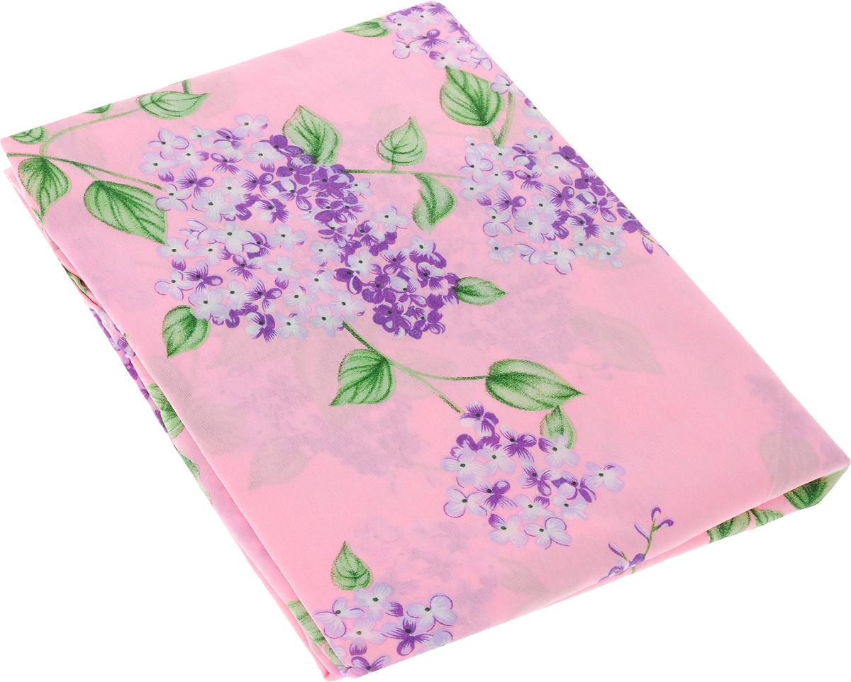 Шторы Guten Morgen Сирень, на петлях, цвет: розовый, фиолетовый, зеленый, 140 х 220 см, 2 шт. ШПс-140-220-2 шторы томдом классические шторы вольтер к цвет бирюзовый