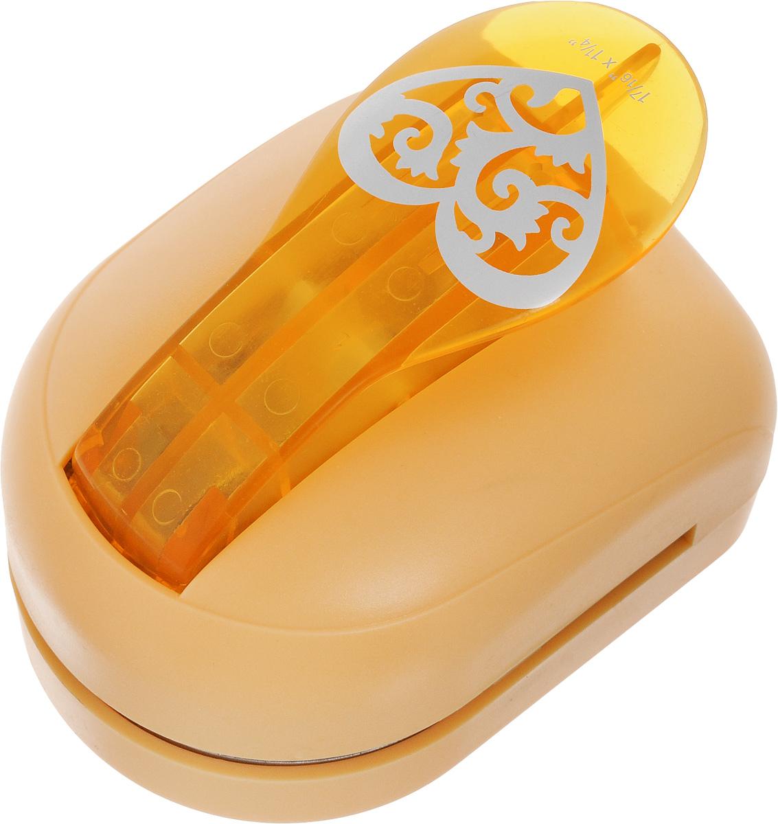 Дырокол фигурный Hobbyboom Сердце резное, №7, цвет: оранжевый, 5 х 5 смJF-33CM-007_оранжевый/сердцеФигурный дырокол Hobbyboom Сердце резное предназначендлясоздания творческих работ втехнике скрапбукинг. С его помощью можно оригинальнооформить открытки, украсить подарочные коробки, конверты,фотоальбомы.Дырокол вырезает из бумаги идеально ровное сердце.Используется для прорезания фигурныхотверстий в бумаге. Вырезанный элемент также можноиспользовать для украшения.Чтобы заточить нож компостера,нужно прокомпостировать самую тонкую наждаку. Чтобы смазатьрежущий механизм -парафинированную бумагу.Размер готовой фигурки: 5 х 5 см.