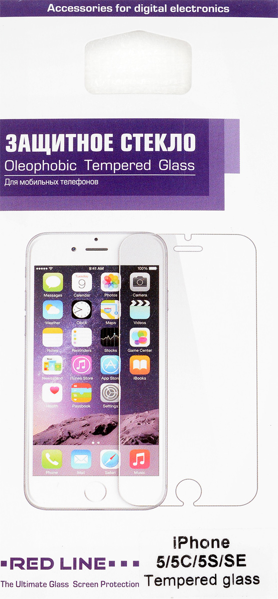 Red Line защитное стекло для iPhone 5/5c/5s/SE protective glass red line for iphone 5 5c 5s se