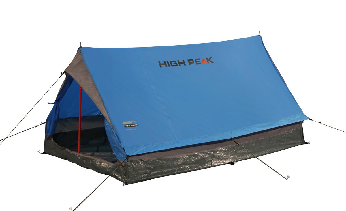 Палатка для трекинга High Peak Minipack 2, цвет: синий, 190 х 120 х 95 см удлинитель с заземлением 4х15 м makel 159