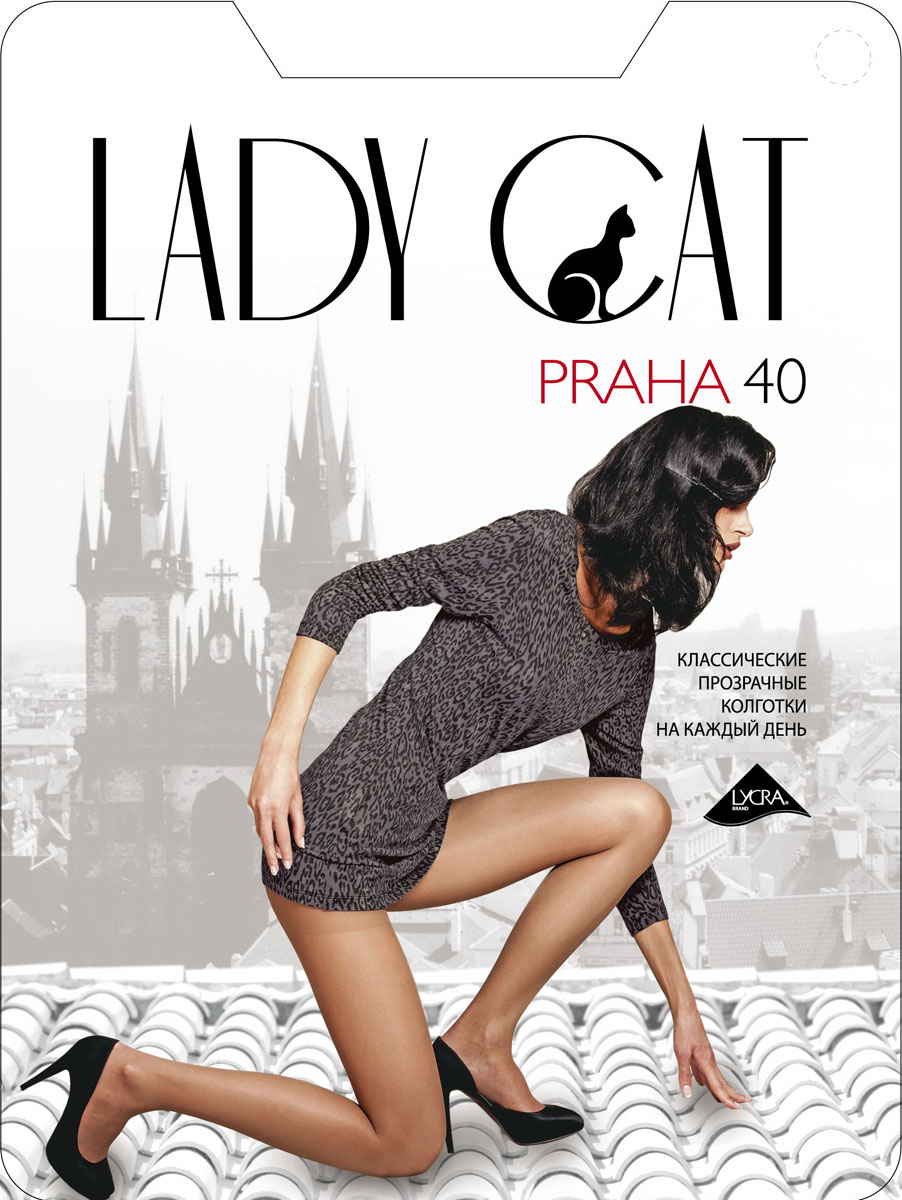 Колготки Lady Cat Praha 40, цвет: черный. Размер 6 frico cat c 3