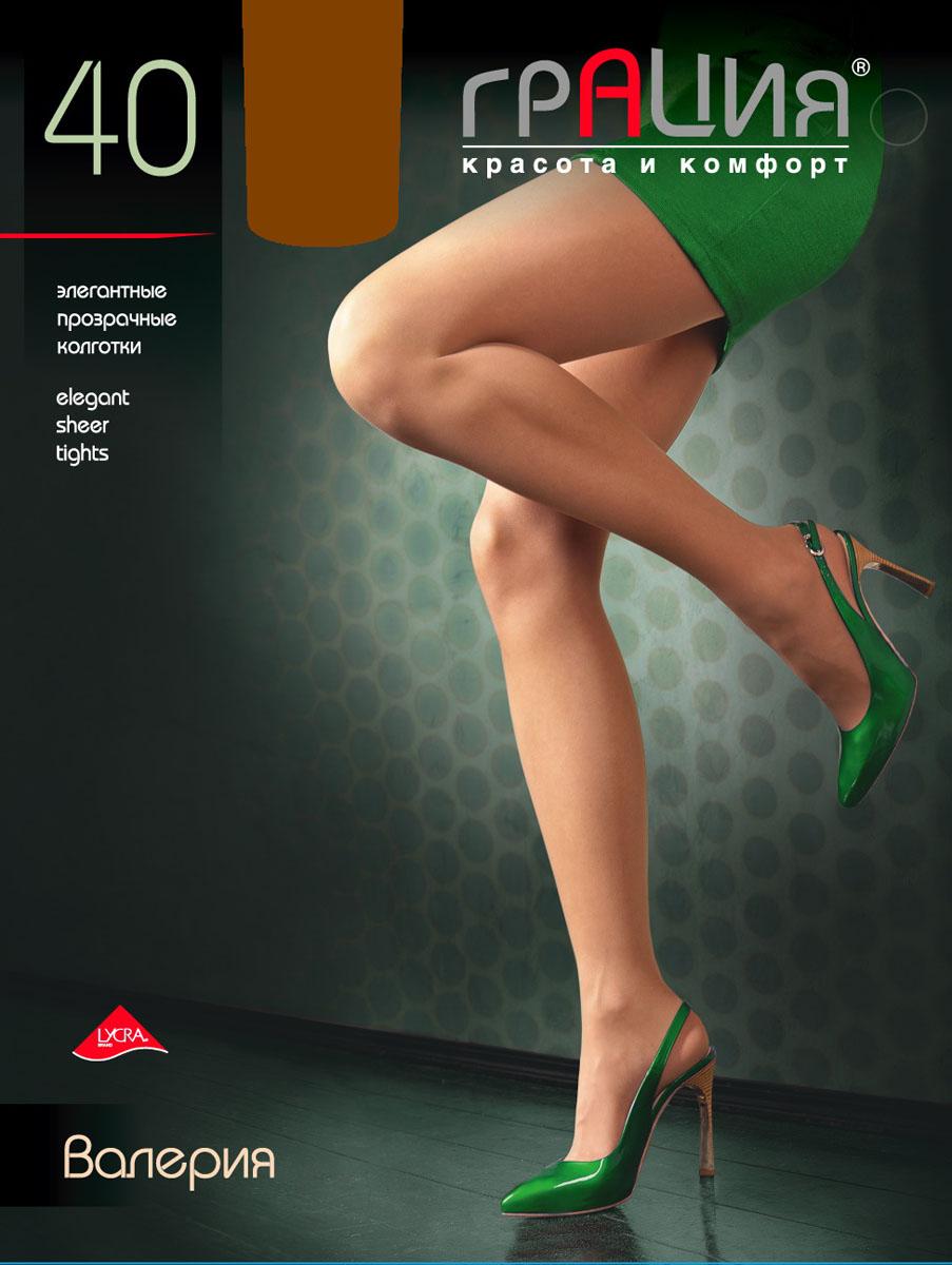 Колготки женские Грация Валерия 40, цвет: телесный. Размер 5 (48)Валерия 40Стильные колготки Грация Валерия 40, изготовленные из эластичного полиамида, идеально дополнят ваш образ и подчеркнут элегантность и стиль. Колготки комфортно облегают и создают приятное ощущение подтянутости. Прозрачные шелковистые колготки легко тянутся, что делает их комфортными в носке. Гладкие и мягкие на ощупь, они имеют комфортный широкий пояс, усиленный торс и хлопковую гигиеническую ластовицу. Равномерное распределение давления по ноге обеспечит неповторимое ощущение удобства. Идеальное облегание и комфорт гарантированы при каждом движении.Плотность: 40 den.