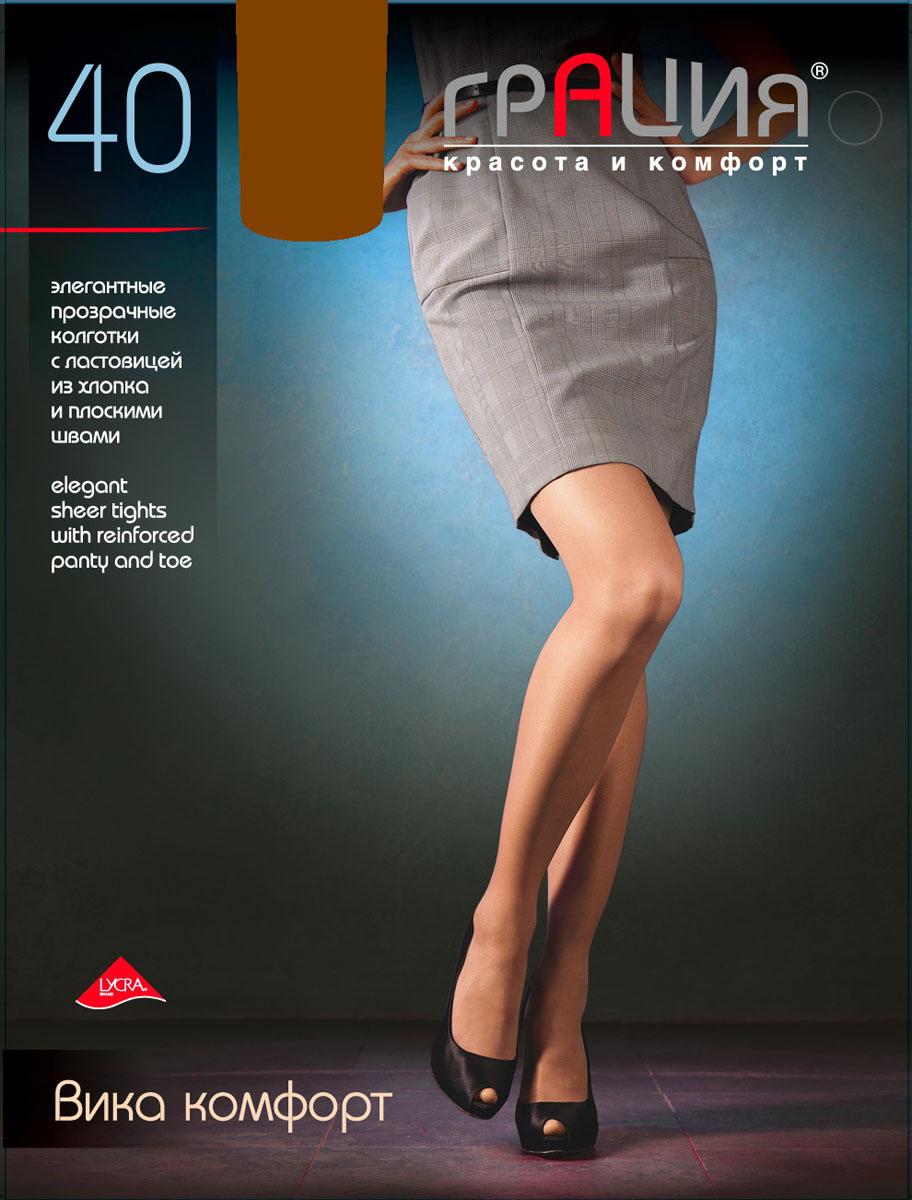 Колготки женские Грация Вика комфорт 40, цвет: загар. Размер 3 (44) колготки грация колготки леди икс 40