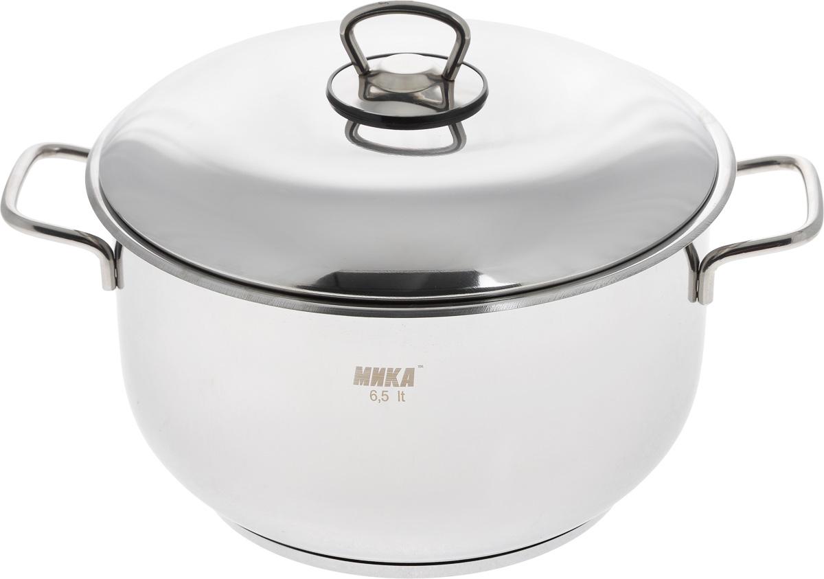 Кастрюля МИКА Стандарт с крышкой, 6,5 л набор посуды мика стандарт 8 предметов мк300