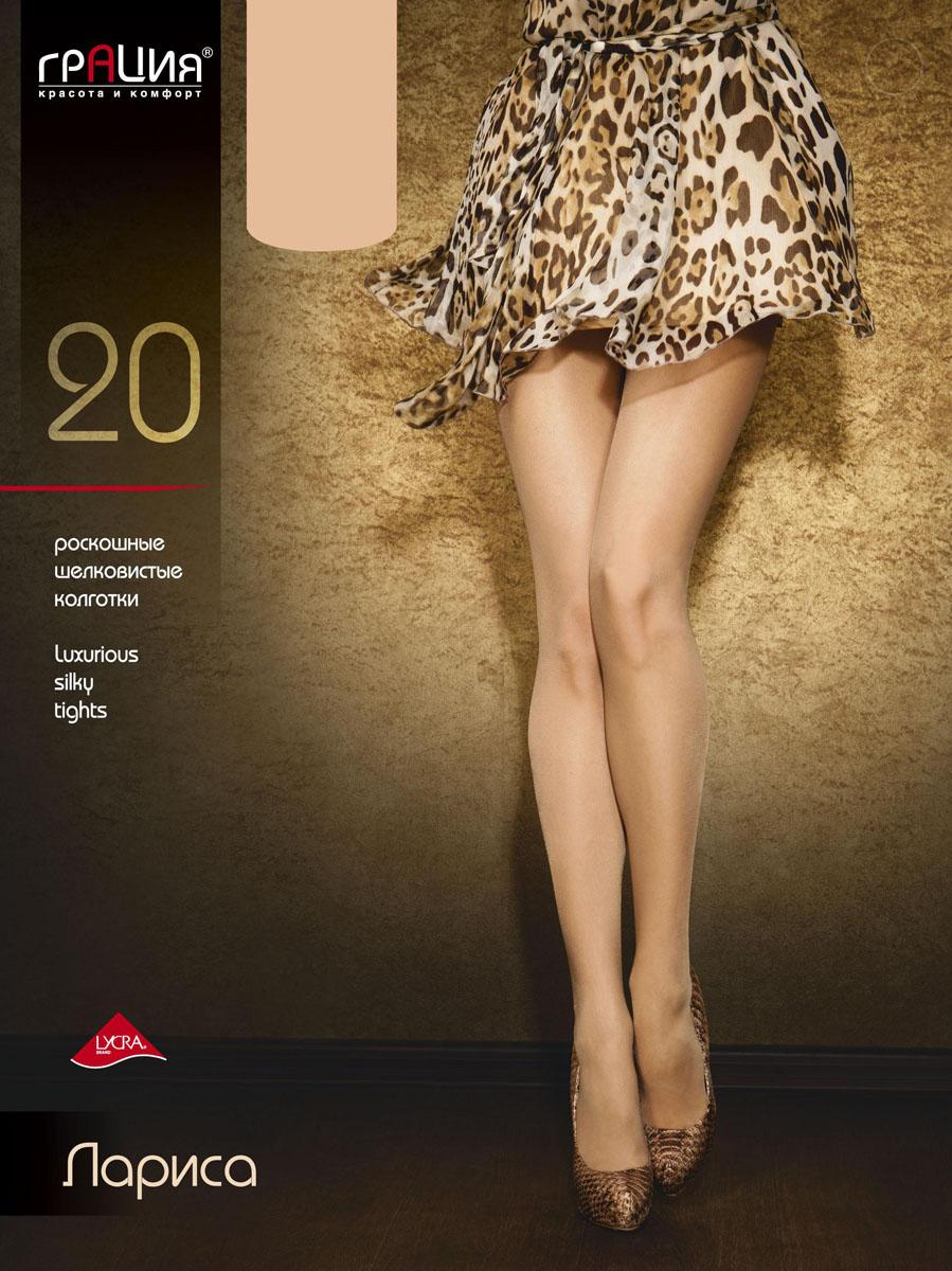 Колготки женские Грация Лариса 20, цвет: телесный. Размер 6 (50) колготки грация колготки браво 20 xl
