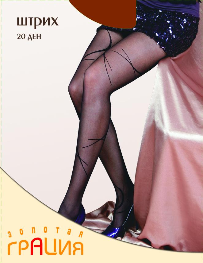 Колготки Золотая Грация Штрих 20, цвет: загар. Размер 4 колготки glamuriki колготки фантазийные со стразами премиум