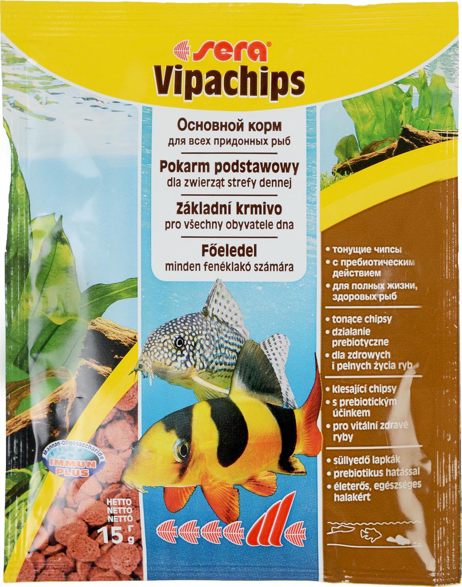 Sera Vipachips Корм для донных рыб, чипсы 15г сомиков в оренбурге aквaриумных