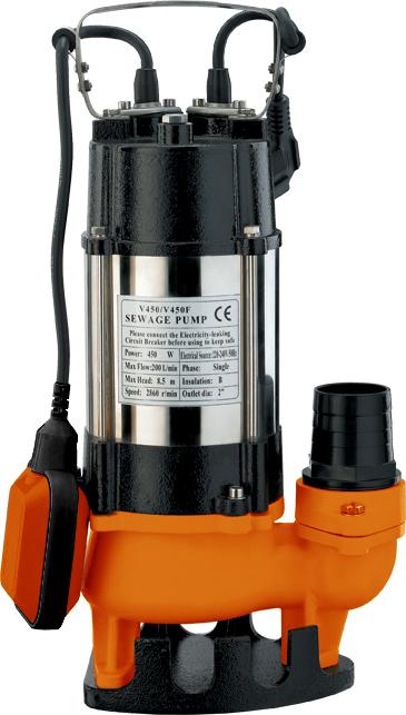 Фекальный насос Вихрь ФН-450 предназначен для откачки  сильнозагрязненных вод, сточных вод и вод, содержащих  волокнистые включения. Используется для откачки воды из  рек, водоемов, осушения подтопленного подвала, погреба,  гаража, работы на автомойке, а также для орошения и подачи  воды.  Металлический корпус обеспечивает высокую прочность и  значительно увеличивает срок службы устройства. Ножки в  нижней части гарантируют его устойчивость во время работы.   Насосная часть включает центробежное рабочее колесо на  валу ротора электродвигателя и уплотнения.  Электродвигатель состоит из статора, короткозамкнутого  ротора и подшипниковых щитов. Статор оснащен двумя  обмотками с термопротектором, который отключает  электродвигатель при превышении допустимой температуры  во избежание перегрева. Камера теплообмена обеспечивает  охлаждение насоса.  Насос оснащен поплавковым выключателем, который  отрегулирован на определенный уровень включения и  отключения насоса. Для исключения образования воздушных  пробок в рабочей полости насоса имеется клапан. Насос не  требует консервации. Во время эксплуатации насос не  требует никакого обслуживания.  Максимальное количество включений: 20 часов.  Максимальная высота подъема: 12 м.  Напряжение: 220 В.  Частота: 50 Гц.  Тип электродвигателя: асинхронный, однофазный с  короткозамкнутым ротором.  Максимальная подача: 16 м3/час.  Мощность: 450 Вт.  Диаметр пропускаемых частиц: 42 мм.  Диаметр выходного патрубка: 2 дюйм.