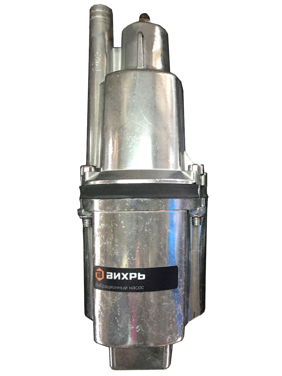 Вибрационный насос Вихрь ВН-10В68/8/1Вибрационный насос с верхним забором воды Вихрь ВН-10В предназначен для перекачивания воды из водоемов, колодцев и резервуаров диаметром более 110 мм. Имеет электрический двигатель мощностью 280 Вт, который обеспечивает напор до 72 метров и производительность до 18 л/мин. Составные части надежно стянуты болтами. Максимальная глубина погружения равна 3 метра. Можно использовать как в вертикальном, так и в горизонтальном положении. Благодаря отверстию для троса удобно погружать или поднимать вибрационный насос. Максимальная высота подъема воды: 72 м.Минимальное расстояние от дна колодца до насоса: 1 м.Напряжение питания: 220/50 В/Гц.Степень защиты: IPX8.Полезная мощность: 280 Вт.Максимальная производительность: 18 л/мин.Максимальная температура воды: +35°С.Диаметр насоса: 100 мм.Длина кабеля: 10 м.Диаметр выходного отверстия: 3/4 дюйма.