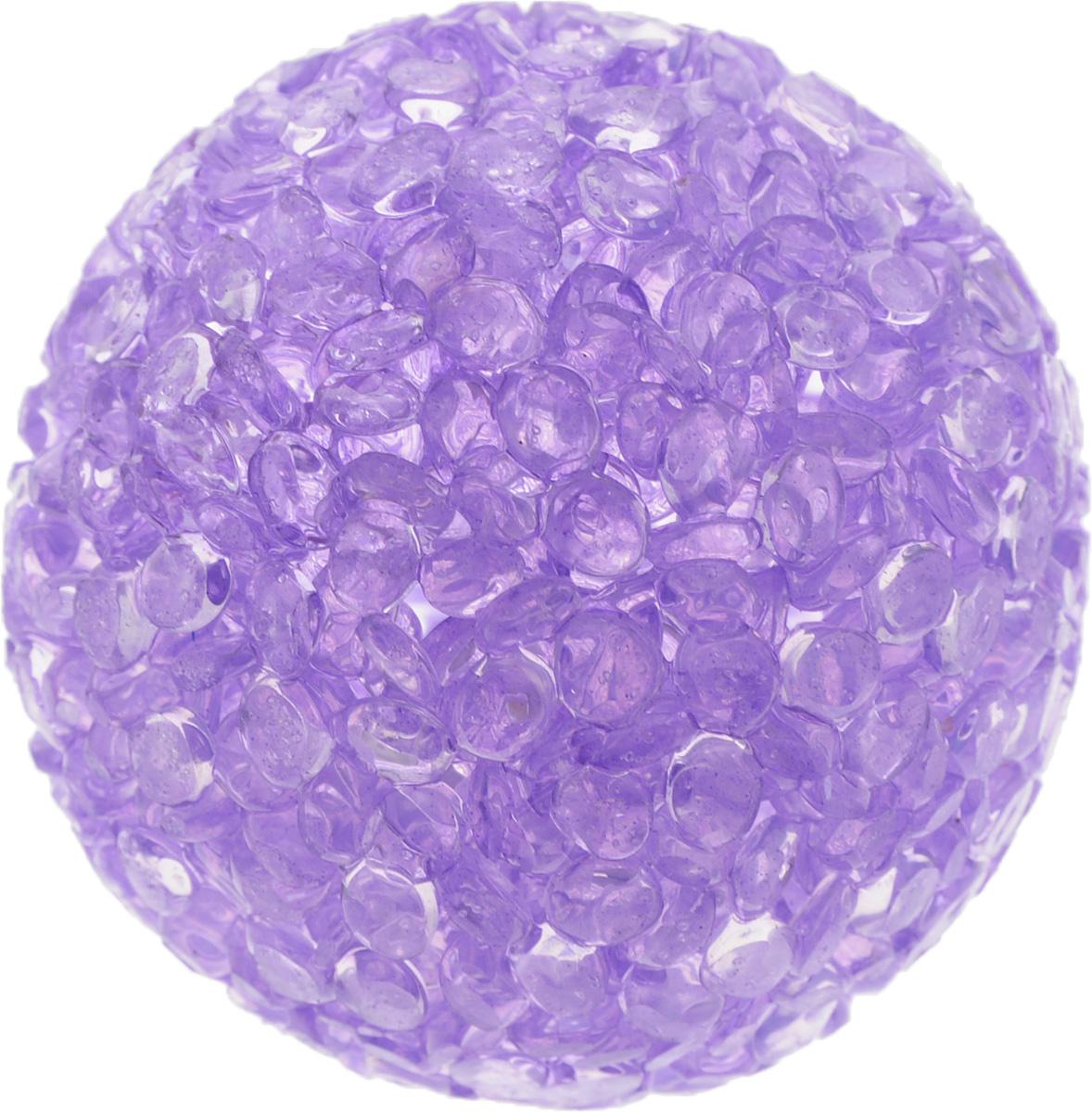 Игрушка для животных Каскад Мячик блестящий, цвет: фиолетовый, диаметр 4 см игрушка для животных каскад мячик пробковый диаметр 3 5 см