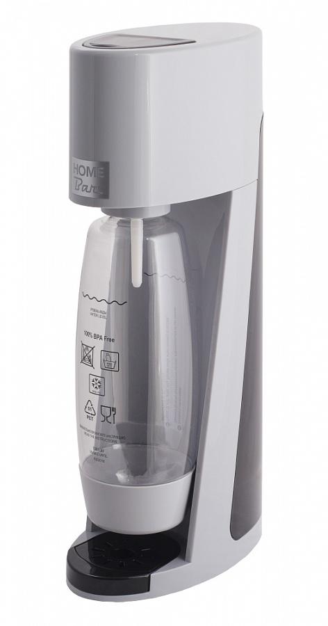 Сифон Home Bar Elixir Turbo NG, без баллона, цвет: серыйElixirTurboNG silverСифон для газирования воды Elixir Turbo NG – это модель класса люкс в линейке аппаратов Home Bar. Благодаря усовершенствованной системе газирования Турбо выброс газа стал больше, а специальная бутылка каплевидной формы, объемом 1,5 л, обеспечивает быстрое и полное растворение углекислого газа в воде. Предназначен для газирования чистой охлажденной воды.Для приготовления напитка сироп рекомендуется наливать в отдельную емкость. Автоматический сброс давления. Не требует электроэнергии.Вкручивающийся разъем для установки баллона. Состав бутылки не содержит бисфенол A. Совместимость с 1 л и 1,5 л бутылкой.