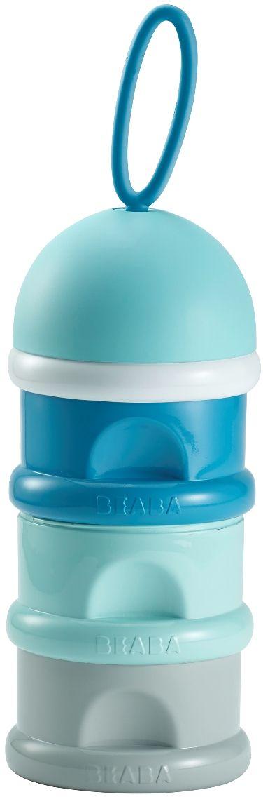 Beaba Контейнер для детской смеси цвет серый голубой синий