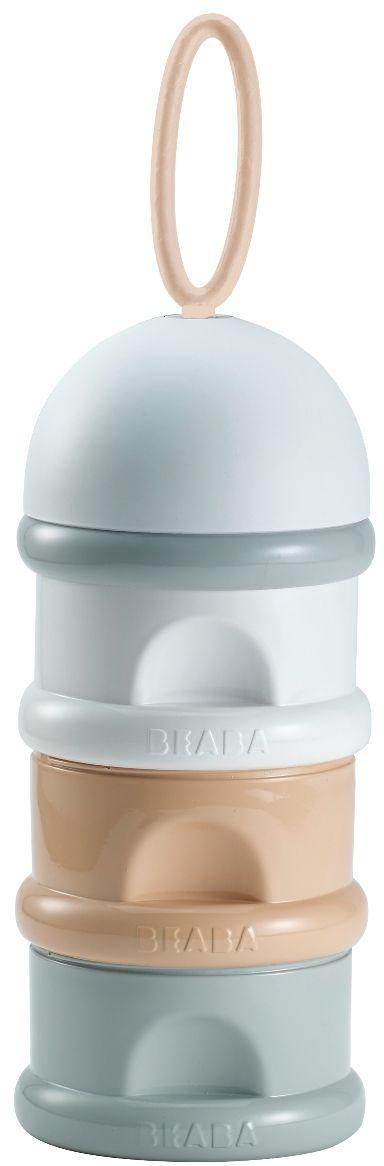 Beaba Контейнер для детской смеси цвет серый белый персиковый