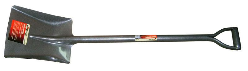Лопата Skrab совковая. 2812328123Лопата совковая (металлический черенок).Размер: 260х300х1100мм.Металлическая часть изготовлена из высокоуглеродистой стали с добавлением марганца.Закалена и имеет защитное покрытие.V-образная ручка.Применяется для выполнения земляных и строительных работ с сыпучими материалами (песок, гравий, уголь, рыхлый грунт и т.д.).