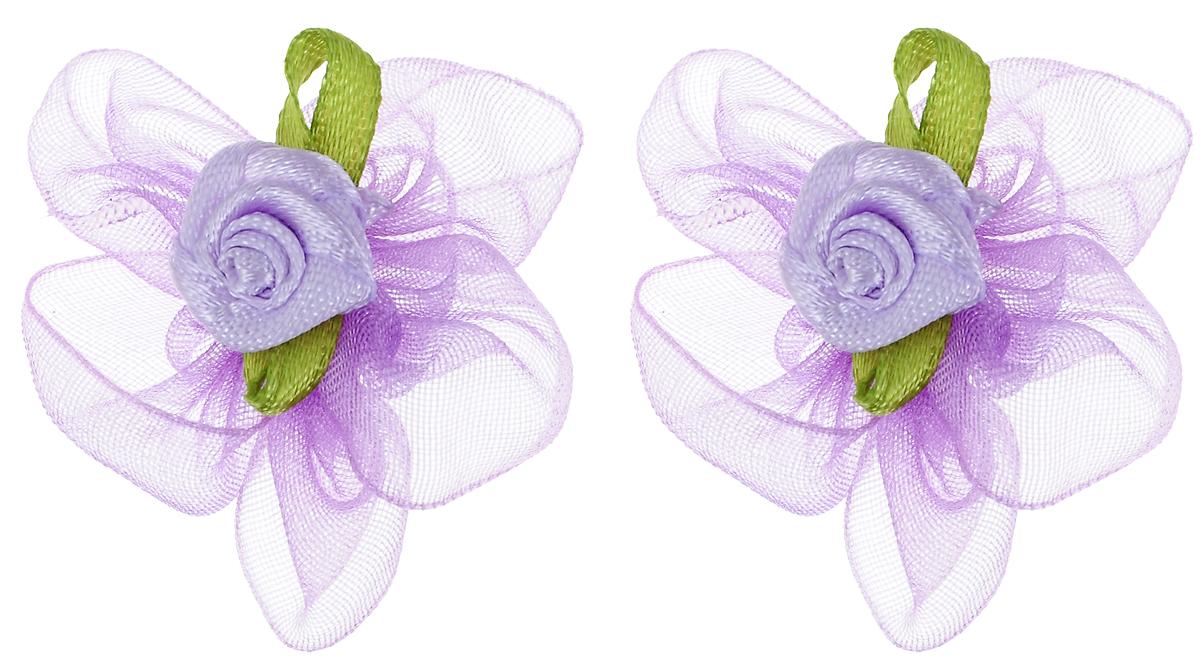Резинка для животных Каскад Цветок, цвет: сиреневый, зеленый, диаметр 3 см, 2 шт игрушка для животных каскад мячик пробковый диаметр 3 5 см