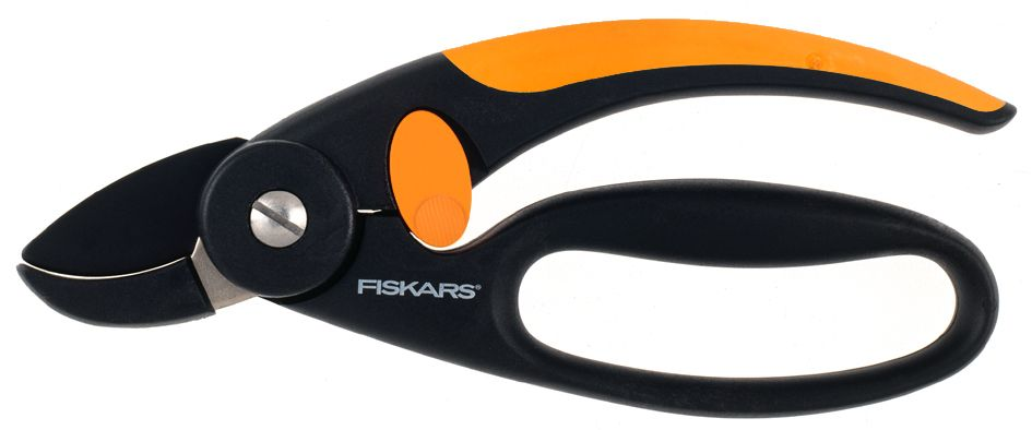 Секатор контактный Fiskars P43, с петлей для пальцев, 18,8 см секатор fiskars powergear p 91 111510