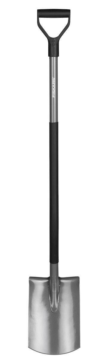 Лопата садовая Fiskars Ergonomic, с закругленным лезвием, 125 см131400Конструкция лопаты Fiskars Ergonomic позволяет садоводу сохранить правильное положение тела в процессе работы. Угол подъема в 26° минимизирует нагрузку на спину и плечи. Длинный, полый стальной черенок имеет пластиковое покрытие, защищающее от холода, а рукоятка, расположенная к черенку под углом 17°, гарантирует руке удобный и естественный хват.Особенности:Прямое лезвие позволяет легко обрабатывать кромку газона, копать и разрыхлять землю.Рукоятка в форме буквы Y обеспечиваетнадежный захват.Сварное соединение между лезвием и черенком обеспечивает прочность инструмента.Пластиковый чулок на черенке защищает инструмент от холода.Использование борсодержащей стали придает лопате дополнительную жесткость и обеспечивает легкое проникновение в почву.