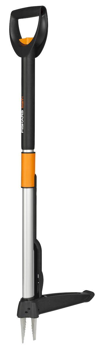 Удалитель сорняков Fiskars SmartFit, телескопический, длина99-119 см139960Телескопический удалитель сорняковFiskars SmartFit — это оптимально сконструированное приспособление, которое позволяет надежно иэффективно удалять любые виды сорняков и нежелательных растений. При изготовлении инструмента используются легкие и надежныематериалы: рабочая поверхность выполнена из стойкой к ударам и повышенной влажности нержавеющей стали. Удобная длина конструкциипозволяет использовать удалитель на протяжении длительного времени, не перегружая при этом позвоночник и мышцы спины. Длина рукояткиможет регулироваться под рост садовода, который будет использовать инструмент. Максимально возможная высота телескопической ручки —1190 мм. Металлические зубья удалителя способны крепко захватывать корень растения с четырех сторон, без особого труда вытаскиватьсорняк из земли. Инновационный механизм выталкивает корни из устройства сразу после извлечения, обеспечивая при этом чистую работу.Удалитель сорняковFiskars SmartFit подходит для извлечения нежелательной растительности как на клумбе с цветами, так и на газоннойлужайке. Данная конструкция позволяет качественно и эффективно справится с любыми видами сорняков без использования химическихсредств.Длина: 99-119 см.