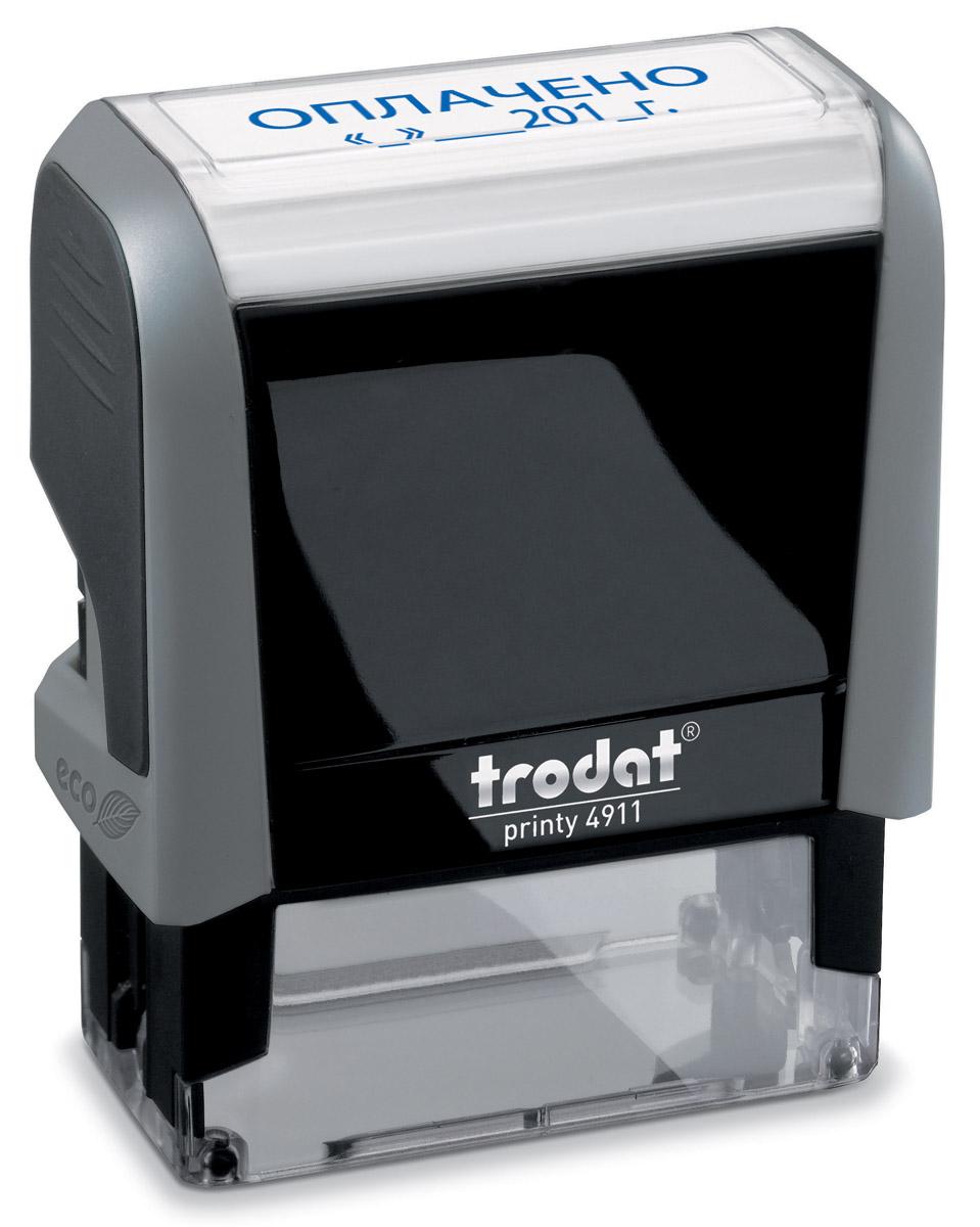 Trodat Штамп текстовый Оплачено с датой - Печати, штампы