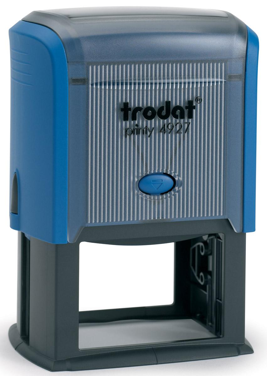 Trodat Оснастка для штампа 60 х 40 мм4927 P3Оснастка для штампа Trodat будет незаменима в отделе кадров или в бухгалтерии любой компании.Прочный пластиковый корпус с автоматическим окрашиванием гарантирует долговечное бесперебойное использование. Модель отличается высочайшим удобством в использовании и оптимально ложится в руку.Оттиск проставляется практически бесшумно, легким нажатием руки. Улучшенная конструкция и видимая площадь печати гарантируют качество и точность оттиска.Текстовые пластины прямоугольной формы 60 х 40 мм подойдут для изготовления клише по индивидуальному заказу.Модель оснащена кнопками блокировки. Оснастка для штампа Trodat идеальна для ежедневного использования в офисе.