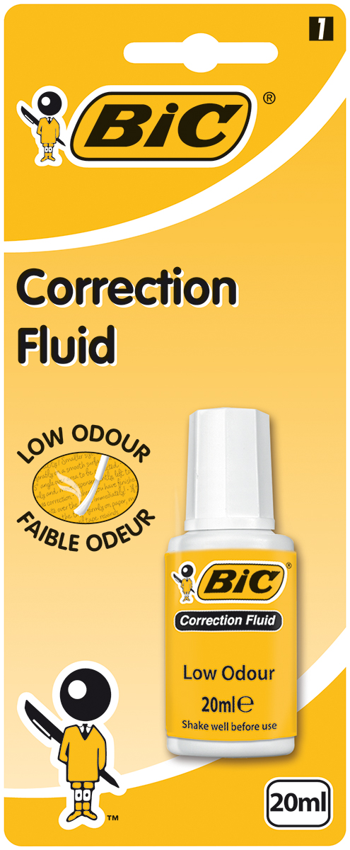 Bic Корректирующая жидкость 20 мл proff корректирующая жидкость в карандаше 7мл гадкий я