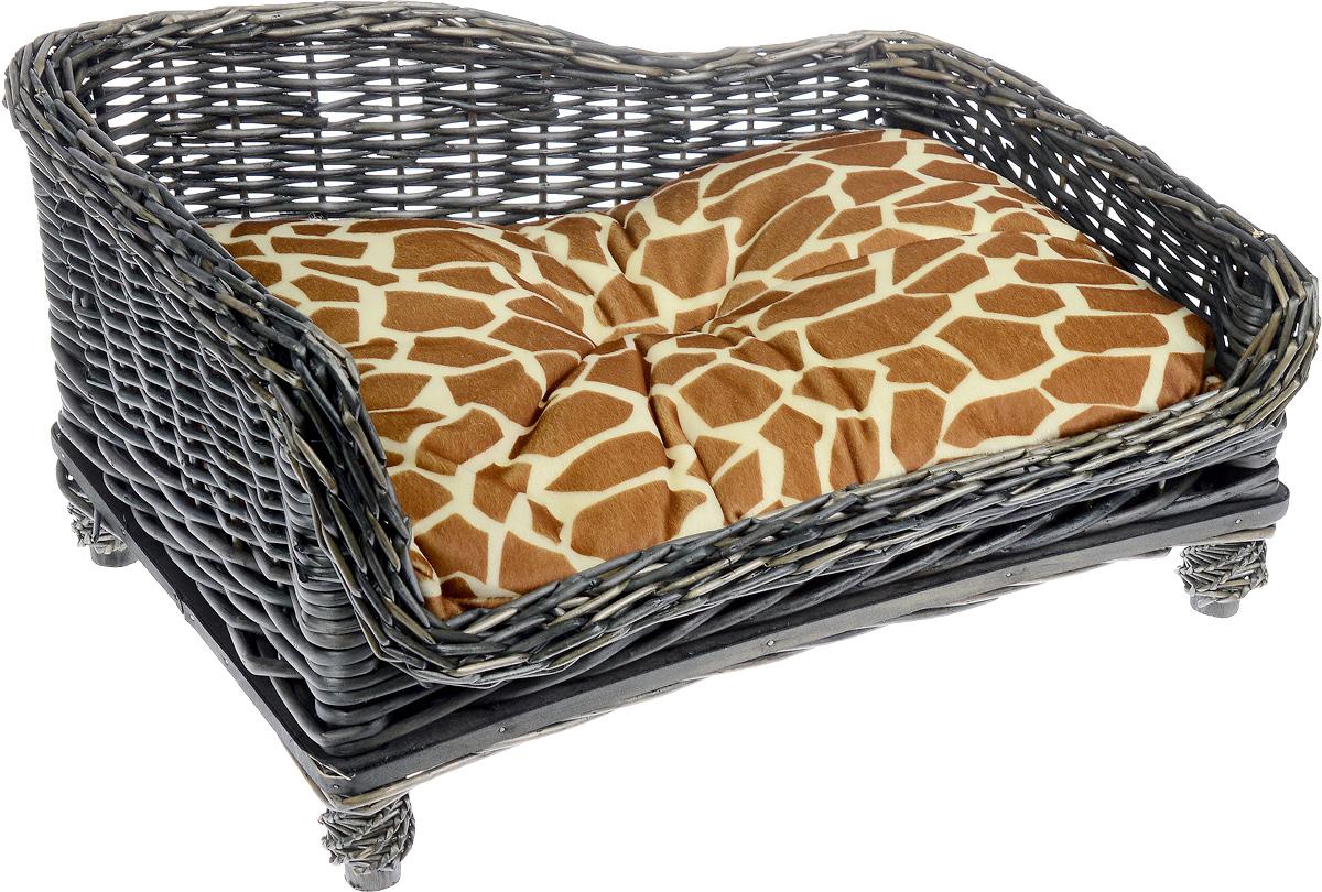 Лежак-диван Каскад №3, плетеный, угловой, 67 х 52 х 37 см лежак дарэлл хантер лось 2 с подушкой 55 40 16см