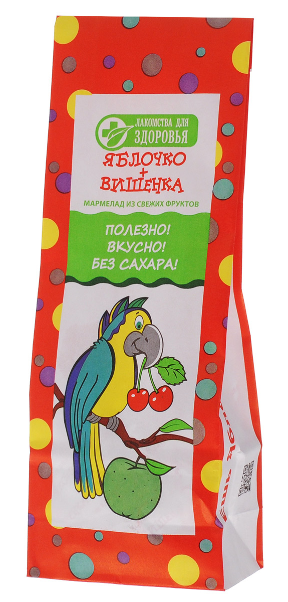 Лакомства для здоровья Яблочко+Вишенка мармелад желейный, 105 г лакомства для здоровья trolls клубничка мармелад 105 г