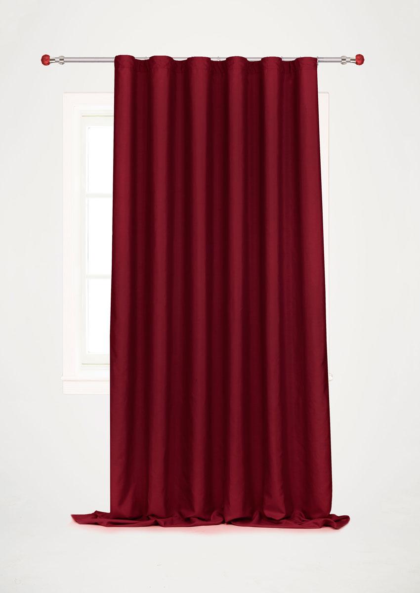 Штора для гостиной Garden, на ленте, цвет: бордовый, размер 200 x 260 смс w1223 V79150_бордоРоскошная штора-портьера Garden выполнена из сатина (100% полиэстера). Материал плотный и мягкий на ощупь.Оригинальная текстура ткани и нежный цвет привлекут к себе внимание и органично впишутся в интерьер помещения.Эта штора будет долгое время радовать вас и вашу семью!Штора крепится на карниз при помощи ленты, которая поможет красиво и равномерно задрапировать верх. Стирка при температуре 30°С.