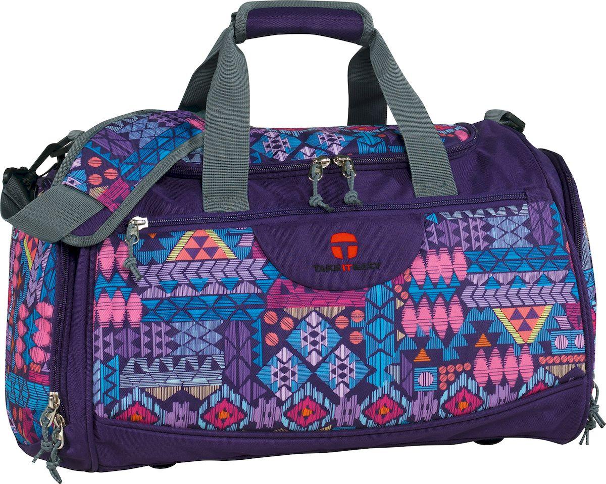 Take It Easy Сумка спортивная Rom Ацтеки цвет лиловый28408499059