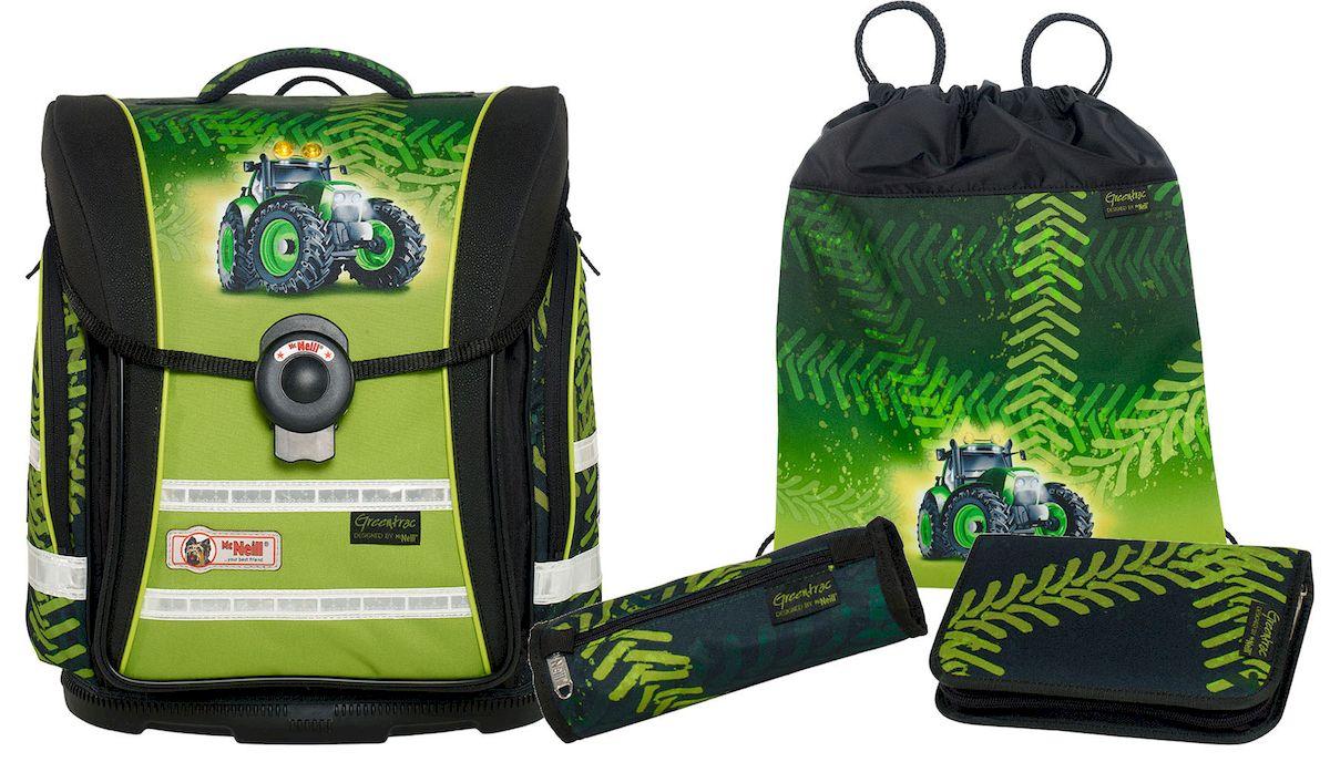McNeill Ранец школьный Ergo Light Compact Greentrac с наполнением 4 предмета