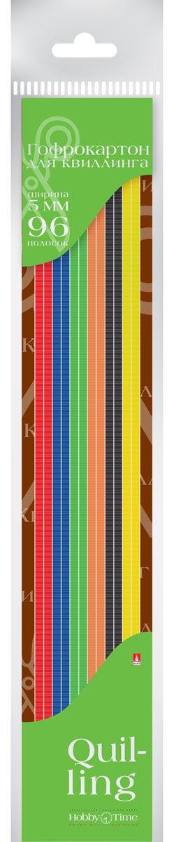 Альт Картон для гофроквиллинга 5 мм 96 полос 6 цветов2-079Гофрированный картон для квиллинга Альт обладает повышенной плотностью, что обеспечивает поделкам долговечность и прочность. Рельефная волнообразная фактура материала придает объемность готовым работам.Предварительно нарезанные узкие полоски шириной 5 мм используются для аппликаций и поделок в технике квиллинг, а также создания декоративных элементов для украшения шкатулок, фоторамок открыток. Набор включает 96 полосок шести насыщенных цветов.Создание поделок из цветного гофрированного картона поможет ребенку в развитии творческих способностей, увлечет и подарит ему праздник и хорошее настроение.