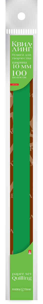 Альт Бумага для квиллинга 10 мм 100 полос цвет темно-зеленый goznak набор для квиллинга бумага 300 5мм медиум моно красный qzv m 100 5r