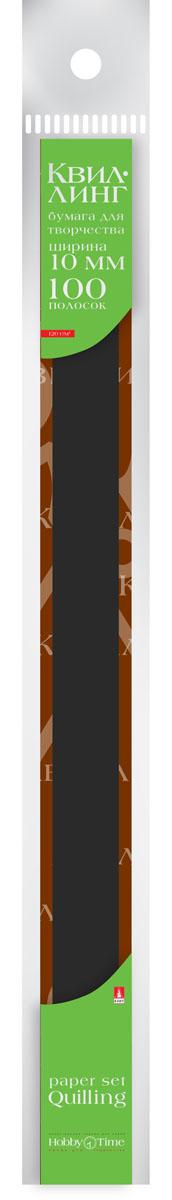 Альт Бумага для квиллинга 10 мм 100 полос цвет черный goznak набор для квиллинга бумага 300 5мм медиум моно красный qzv m 100 5r