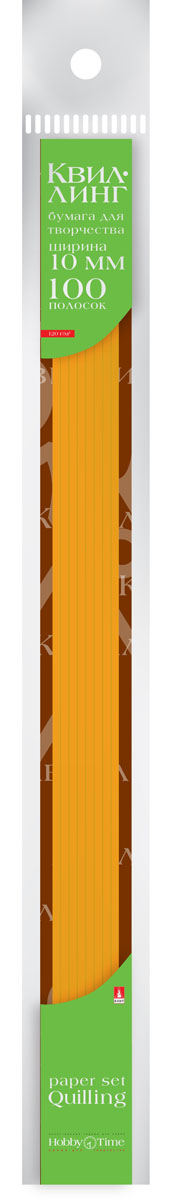 Альт Бумага для квиллинга 10 мм 100 полос цвет оранжевый goznak набор для квиллинга бумага 300 5мм медиум моно красный qzv m 100 5r