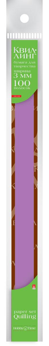 Альт Бумага для квиллинга 3 мм 100 полос цвет фуксия