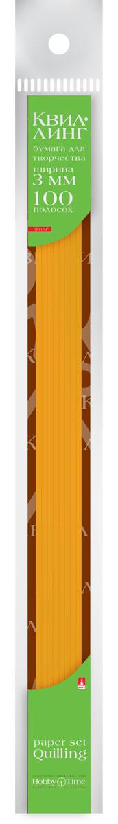Альт Бумага для квиллинга 3 мм 100 полос цвет оранжевый