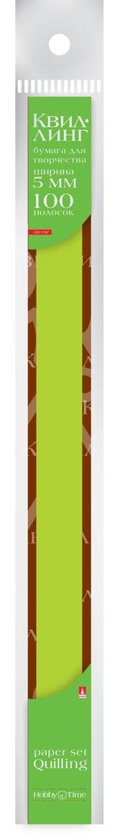 Альт Бумага для квиллинга 5 мм 100 полос цвет зеленый goznak набор для квиллинга бумага 300 5мм медиум моно красный qzv m 100 5r