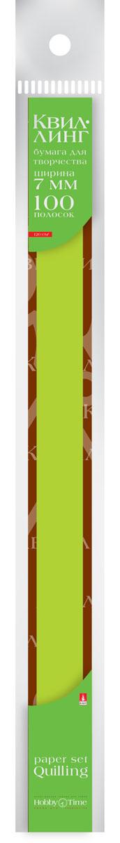 Альт Бумага для квиллинга 7 мм 100 полос цвет зеленый